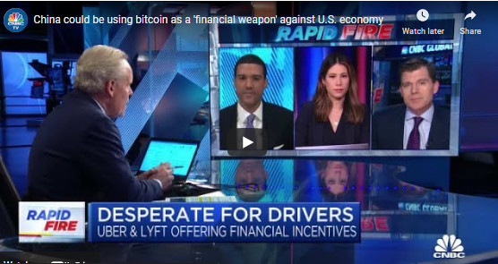 MSNBCReports on China Crypto Currency Risk